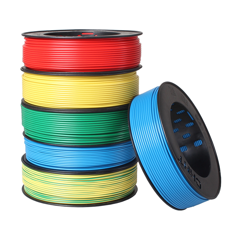 CHNT Polyvinyl Chloride Flexible Wire And Cable Multi color Single core Hard BV1.5 Square 100 Meters
