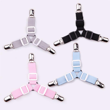 8PCS Adjustable Triangular Bed Mattress Sheet Metal Clips Grippers Straps Table Cloth Fasten Suspender Fastener Holder