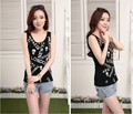 7 Colors Women O-Neck Sexy Summer Bodycon Elastic Tank Tops Lady Sleeveless T-Shirts Female Camisoles Vests With Hollow-out Back