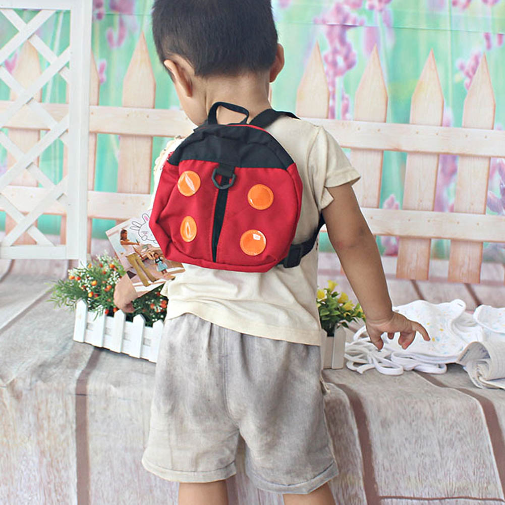 2in1 Ladybird Shaped Keeper Anti Lost Safety Harness Baby Backpack Walk Harness FJ88