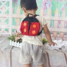 2in1 Божья коровка Shaped Хранитель анти потерял Страховочные ремни рюкзак ребенка ходить жгут fj88