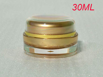 30g gold round cream jars, 30 g  cosmetic container cream jar wholesale ,1 ounce  Cosmetic Packaging gold Cosmetic Jar