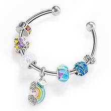 imixlot New Fashion Beaded Bracelet for Women Hot Creative Rainbow Bridge Beads Jewelry accesorios mujer