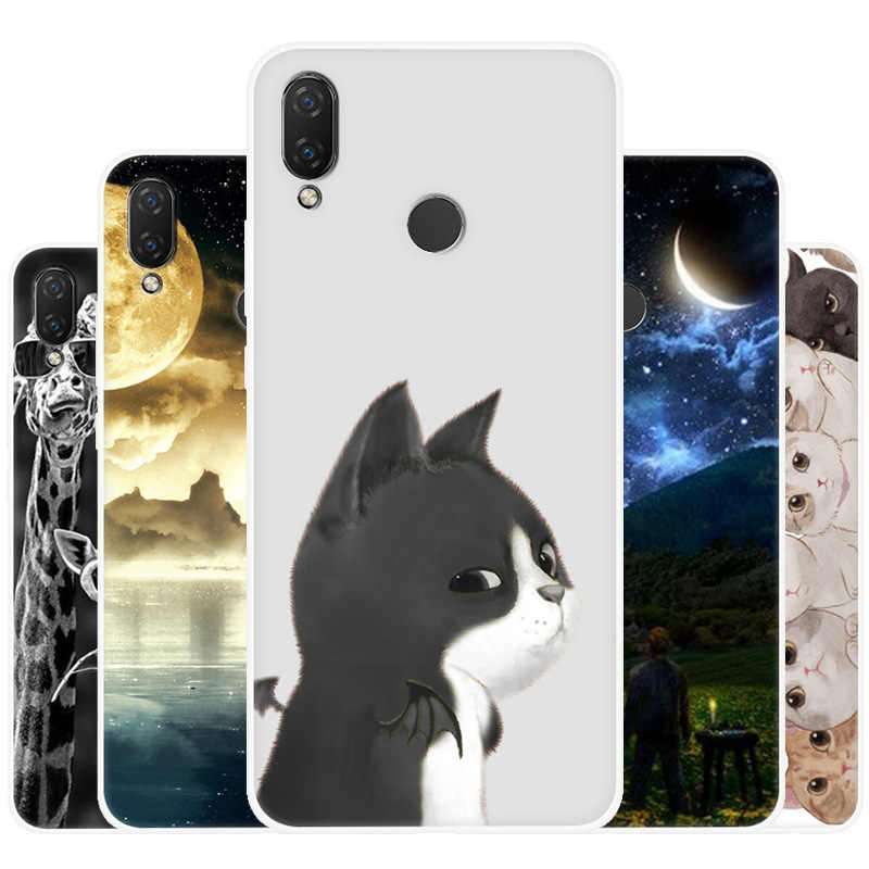 Cute Cartoon Animals Case For Huawei Honor 9i Play 9 lite Painted Case For Huawei Y5 2017 2018 Soft Silicone Full Back Cover