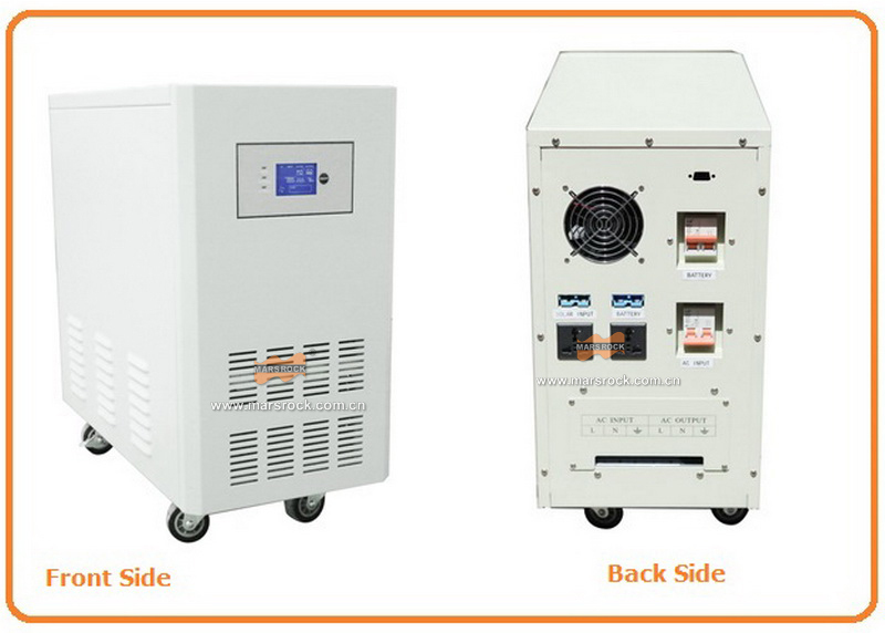 Power frequency 5000W pure sine wave solar inverter with charger DC96V to AC110V220V LCD AC by Pass AVR