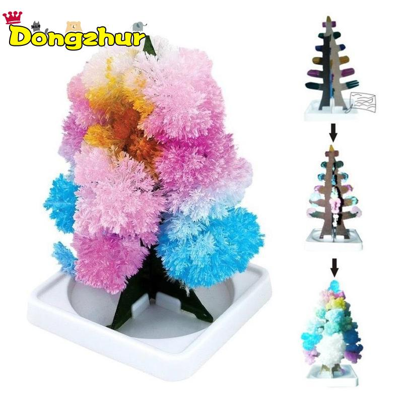 1PC Magic Growing Paper Interactive Tree Magical Grow Trees New Year Kid Toy Gift Xmas Tree Christmas Decoration