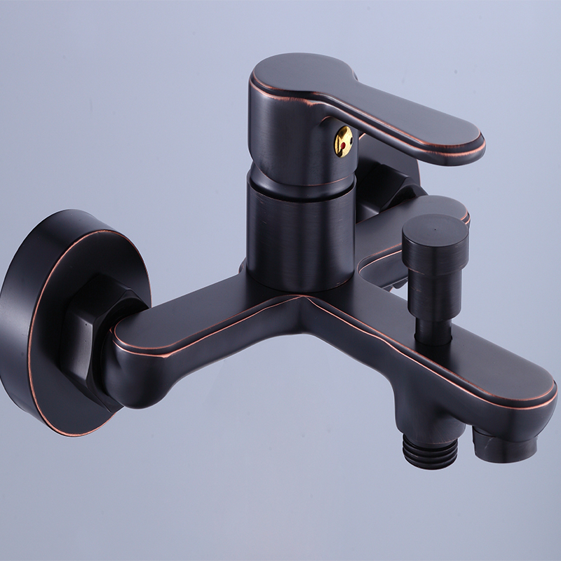 TOOKOC Bathtub Faucets Black Brass Single Handle Hot and cold water tap faucet set waterfall water mixer bath sink faucet mix tookoc black hot and cold water kitchen sink faucet water mixer tap 360 degree
