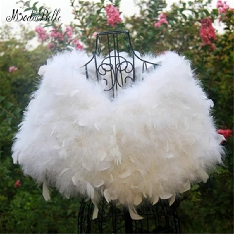 modabelle ostrich feather white wedding fur coat manteau. Black Bedroom Furniture Sets. Home Design Ideas