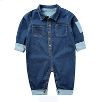 Newborn Baby Rompers Child Infant Clothes Long Sleeve Cute Denim Overalls Autumn Winter Baby Clothes YAOYAO