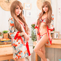 NEW COSPLAY Japanese kimono Sexy lingerie women costumes Sex Products toy Sexy underwear Role play Ladies pajamas 11109