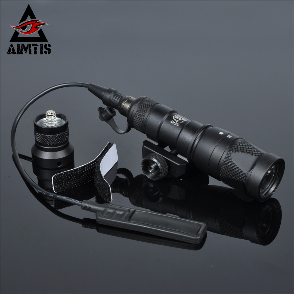 AIMTIS M300V Tactical Flashlight Gun Weapon Light With Constant Strobe momentary Output For 20mm Picatinny Rail Free Shipping m952 scout light ir picatinny qd mount led weapon light waterproof hunting flashlight constant momentary white output