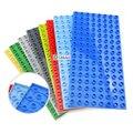 25cm * 12cm Grundplatte 128 Punkte Montieren Große Partikel Baustein Kompatibel Große Größe Block Bildungs Ziegel Spielzeug für kinder