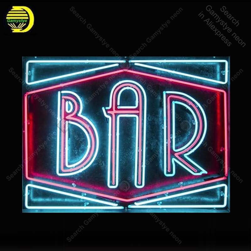Segno al neon per la Birra Bar Lampadina Al Neon segno artigianato Hotel neon cartello al neon di arte della parete luci anuncio luminos con il nero bordo