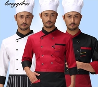 Long Sleeve Hotel Restaurant Restaurant Chef Cake Room Noodle Maker Kitchen Male Job Chef Uniform