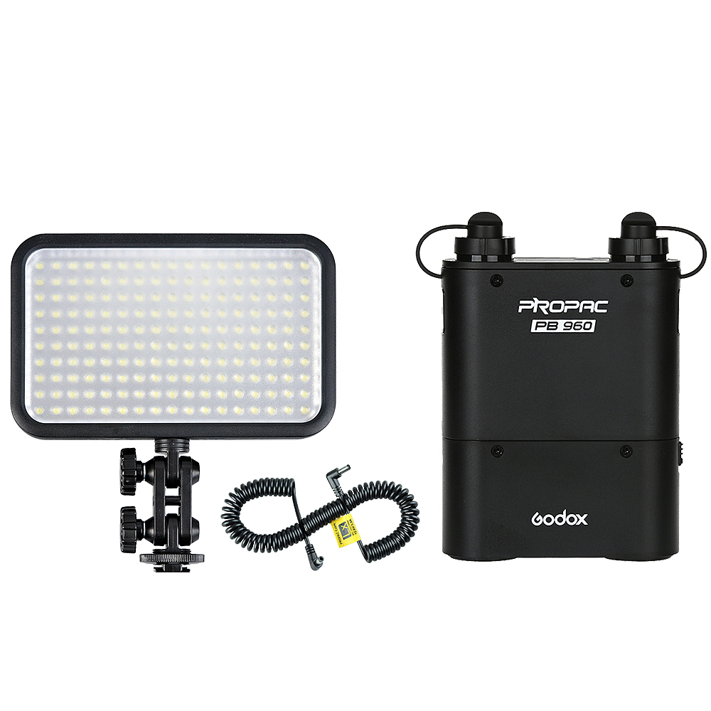 Godox LED 170II Video Light + PB960 Battery Pack + LX Power Cable Kit For Photography godox professional led video light