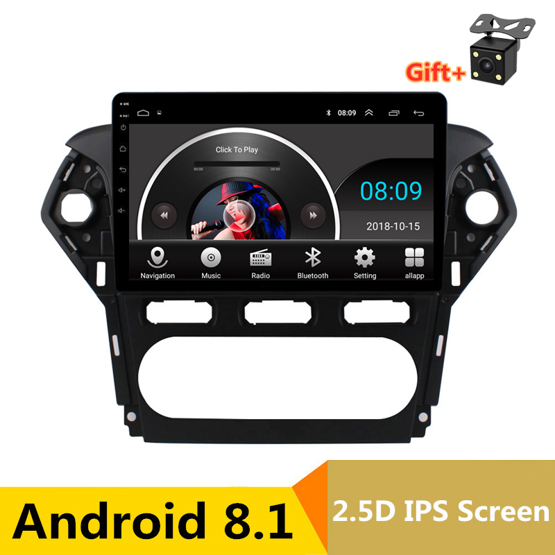 "10.1"" Android 8.1 Car DVD Video Player GPS Navigation For Ford Mondeo 2011 2012 Radio audio Headunit Stereo bluetooth wifi"