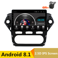 10.1 Android 8.1 Car DVD Video Player GPS Navigation For Ford Mondeo 2011 2012 Radio audio Headunit Stereo bluetooth wifi