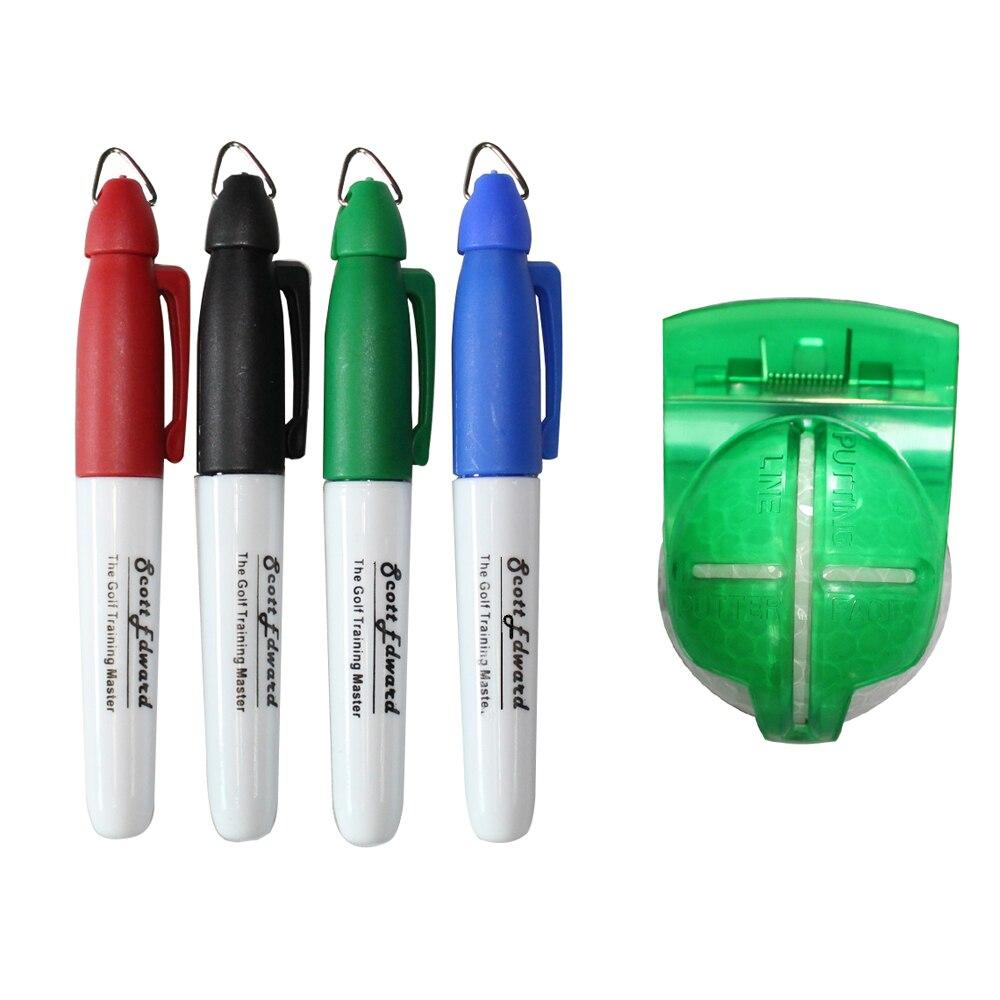 Muti-plantillas de Golf Marcador de la Bola con Negro/Azul/Rojo/Verde de Plumas