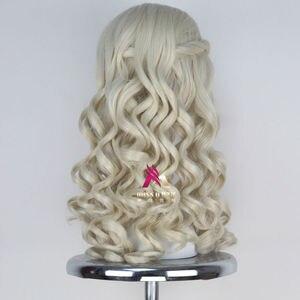 Image 3 - Женский Длинный светлый парик Miss U, вьющиеся волосы в стиле королевы, маскарадный парик на Хэллоуин для взрослых и детей