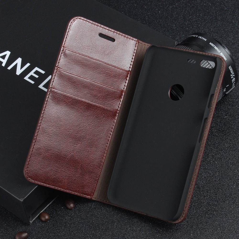 Luxury Genuine Leather Wallet Flip Case Cover For Google Pixel / Pixel XL