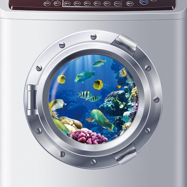 3d Ocean View Fish Window Wall Sticker Nursery Bathroom Decals Sea Portal  Peel Stick Sea Cruise Wall Art For Kids Rooms