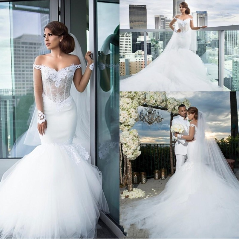 7984135412 US $200.0 |Vintage Off Shoulder Wedding Dress 2016 Lace Long Train Country  Western Bridal Dresses Backless Online Chinese Store Cheap-in Wedding ...