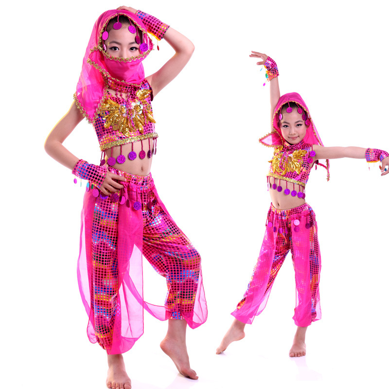 Children's India Dance Performance Suit Girls Belly Dancing Dress Kids Cos Costume Children's Day Party Dress B-3270