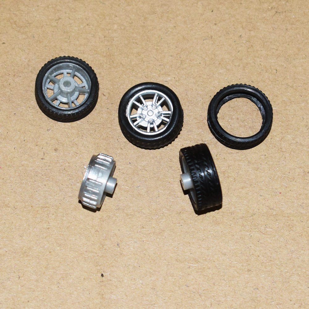 10pcs 16MM mini rubber wheel / four-wheel drive wheel / diy small production technology/Technology model parts/toy accessories/ 32mm combination track wheel diy tank model wheel technology production model tank track wheel diy toy accessories baby toys
