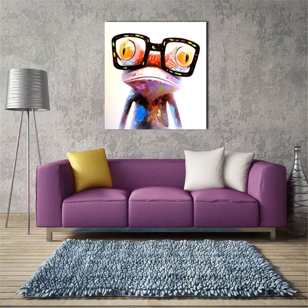 Auf Leinwand Raumdekor Ölgemälde Gläser Frosch Moderne Abstrakte ...