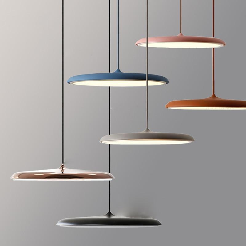 Modern Pendant Light Danish Art Metal LED Pendant Lamp Living room Hanglamp Kitchen Light Fixture Indoor