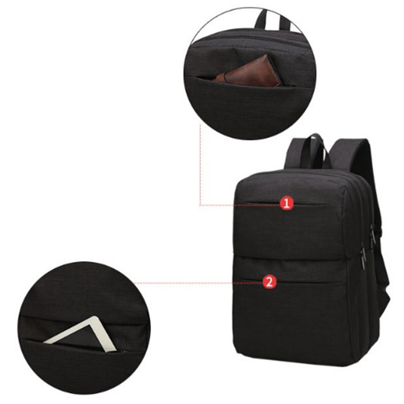 OZUKO New Nylon Laptop Men Backpack USB Charging Multi-Functional Travel Backpack For Teenagers Men Student School Bags