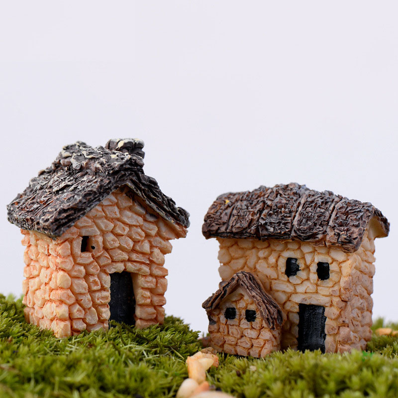 US $0 9 5% OFF|Aliexpress com : Buy Miniature, Artificial Mini Vintage  Building Stone House Micro World Landscaping Decorative DIY Accessories  Plastic