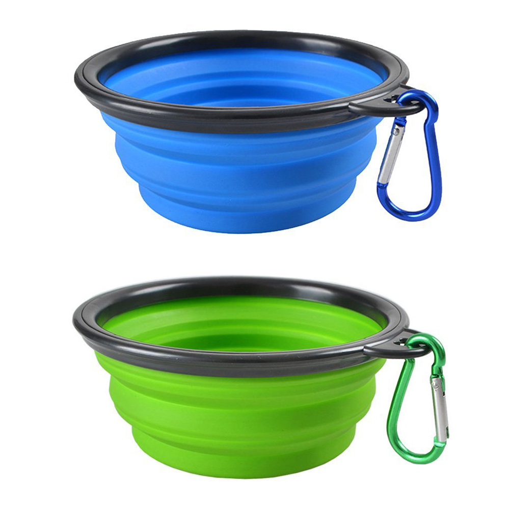Collapsible Dog Cat Pet Bowls, Food Grade Silicone BPA, Dishwasher Safe, Perfect Foldable & Expandable, Travel Pet Bowls for J