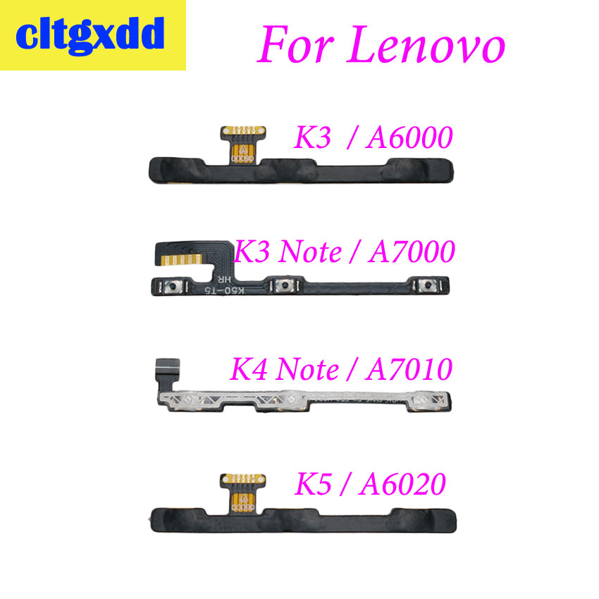 cltgxdd Power on off <font><b>Volume</b></font> up down Switch Key <font><b>Button</b></font> flex cable For <font><b>Lenovo</b></font> Vibe A6000 K3 Note <font><b>A7000</b></font> K4 Note A7010 K5 A6020 image
