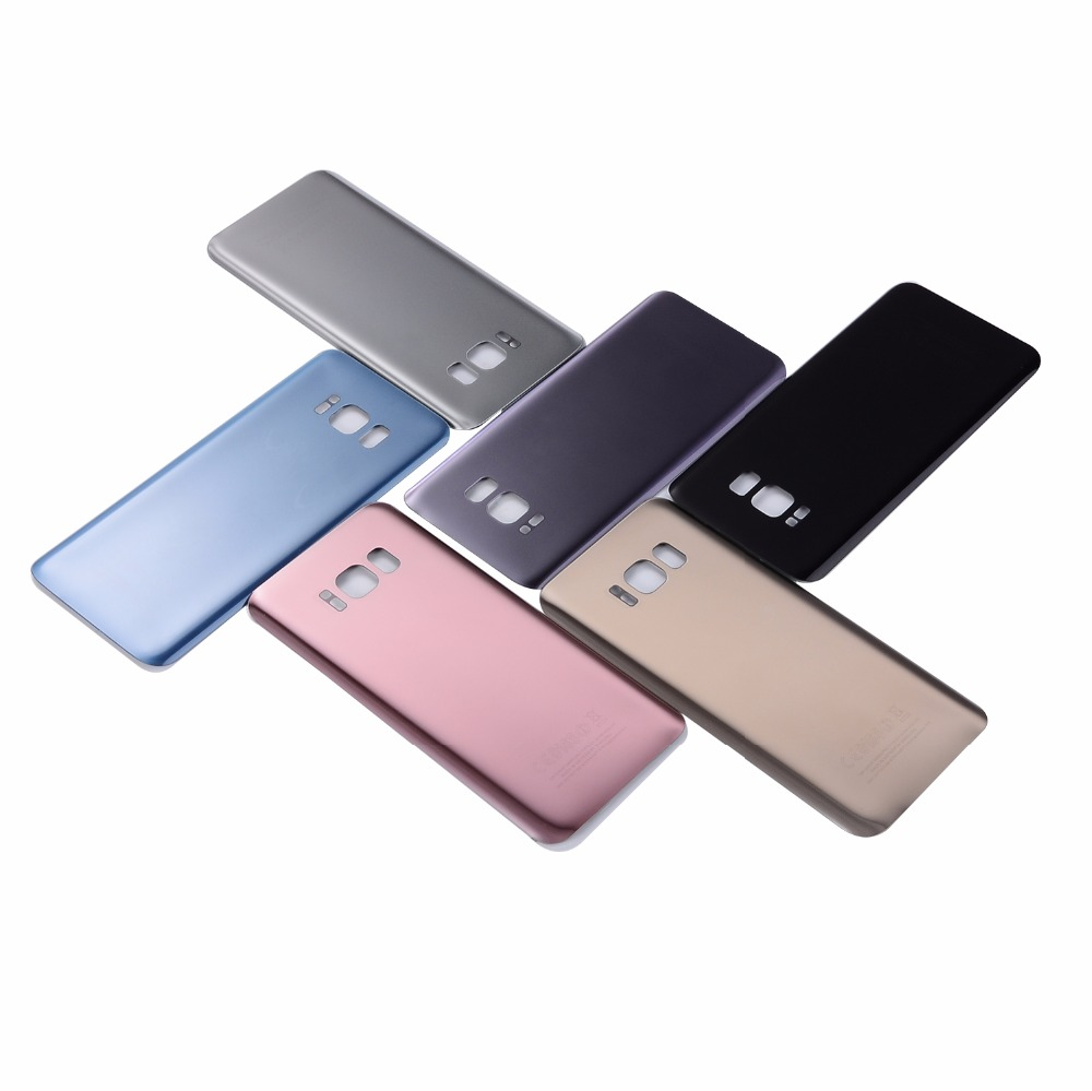 For Samsung Galaxy S8 G950 Glass Back Battery Cover Housing For Samsung Galaxy S8 Plus S8+ G955 Back Cover