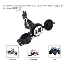 4 colores DC12V 24V enchufe USB resistente al agua con interruptor para moto de nieve ATV cargador de coche enchufe de la cubierta del USB