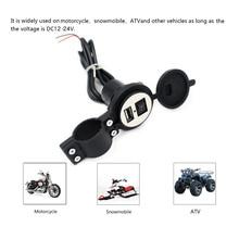 4 renk DC12V 24V Su Geçirmez USB Fiş Için Anahtarı ile Motosiklet Kar Araci ATV araç şarj soketi USB Kapağı Fişi