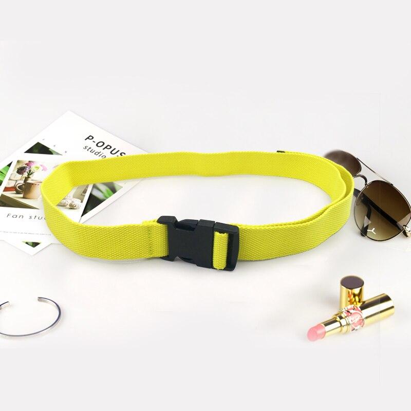 Женский ремень Харадзюку, длинный холщовый ремень Харадзюку, поясной ремень для женщин, сплошной цвет, ceinture femme cinture femme cinto feminino - Цвет: FluorescentYellow