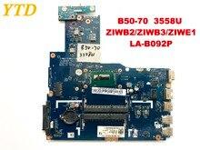 Оригинальный Для Lenovo B50-70 Материнская плата ноутбука B50-70 3558U ZIWB2 ZIWB3 ZIWE1 LA-B092P испытания хорошо бесплатная доставка