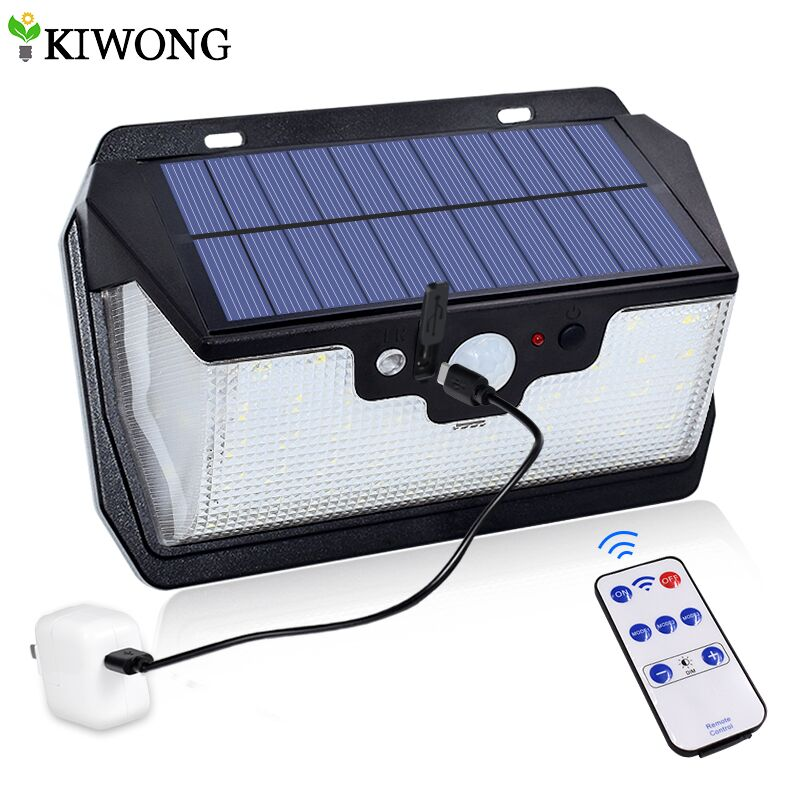 800lm Solar Light Security Lighting 55 Leds Solar Lamp For