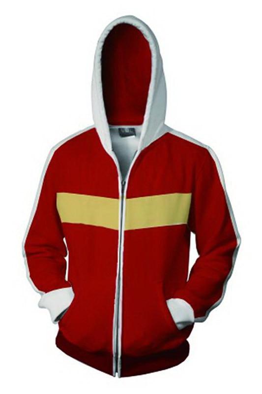 Voltron:Legendary Defender Keith Hoodie 3D Printed Zipper Up Hooded Hoodie Adult Men Casual Sweatshirt Cool Zip Up Hoody HoodieS