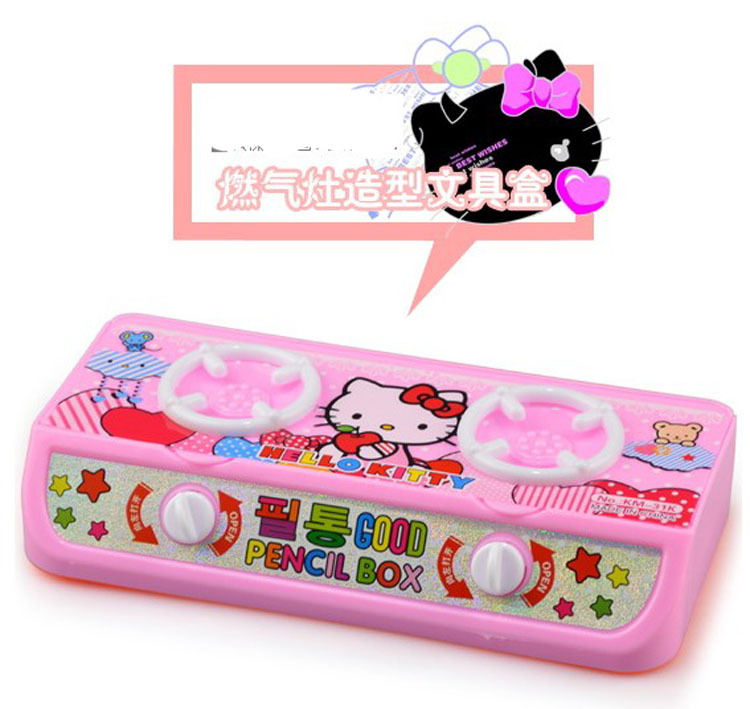 Pink Color Creative Hello Kitty Plastic Pencil Case Cute School Supplies Pen Box For Girls Free Shipping In Cases From Office