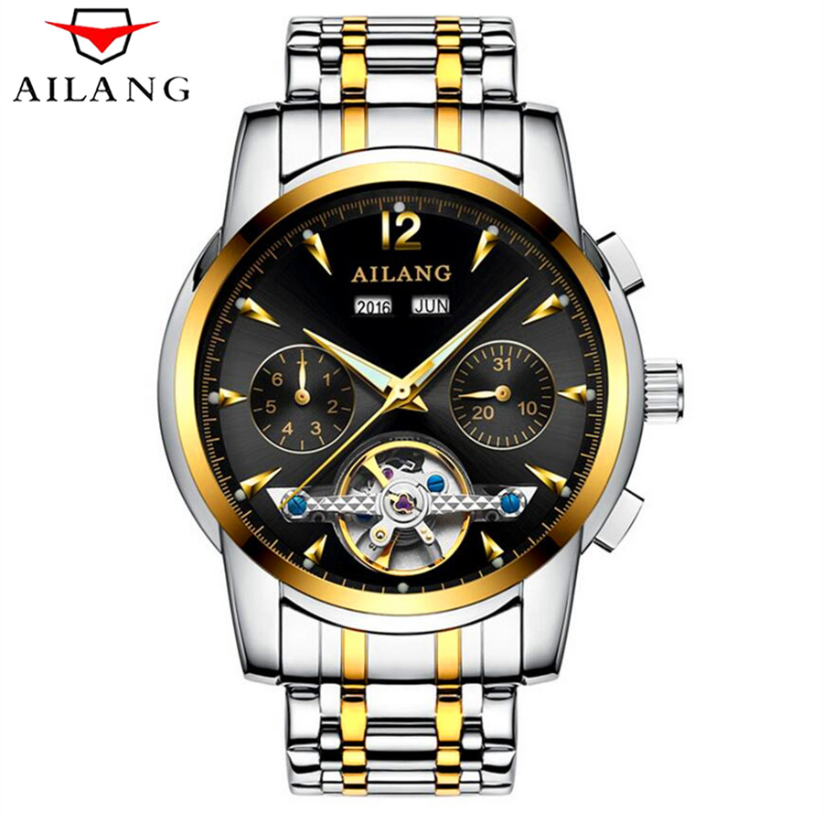 где купить Original AILANG Mechanical Watches Men Waterproof Luminous Calendar Automatic Watch Men montre homme Relogio Masculino 2017 дешево