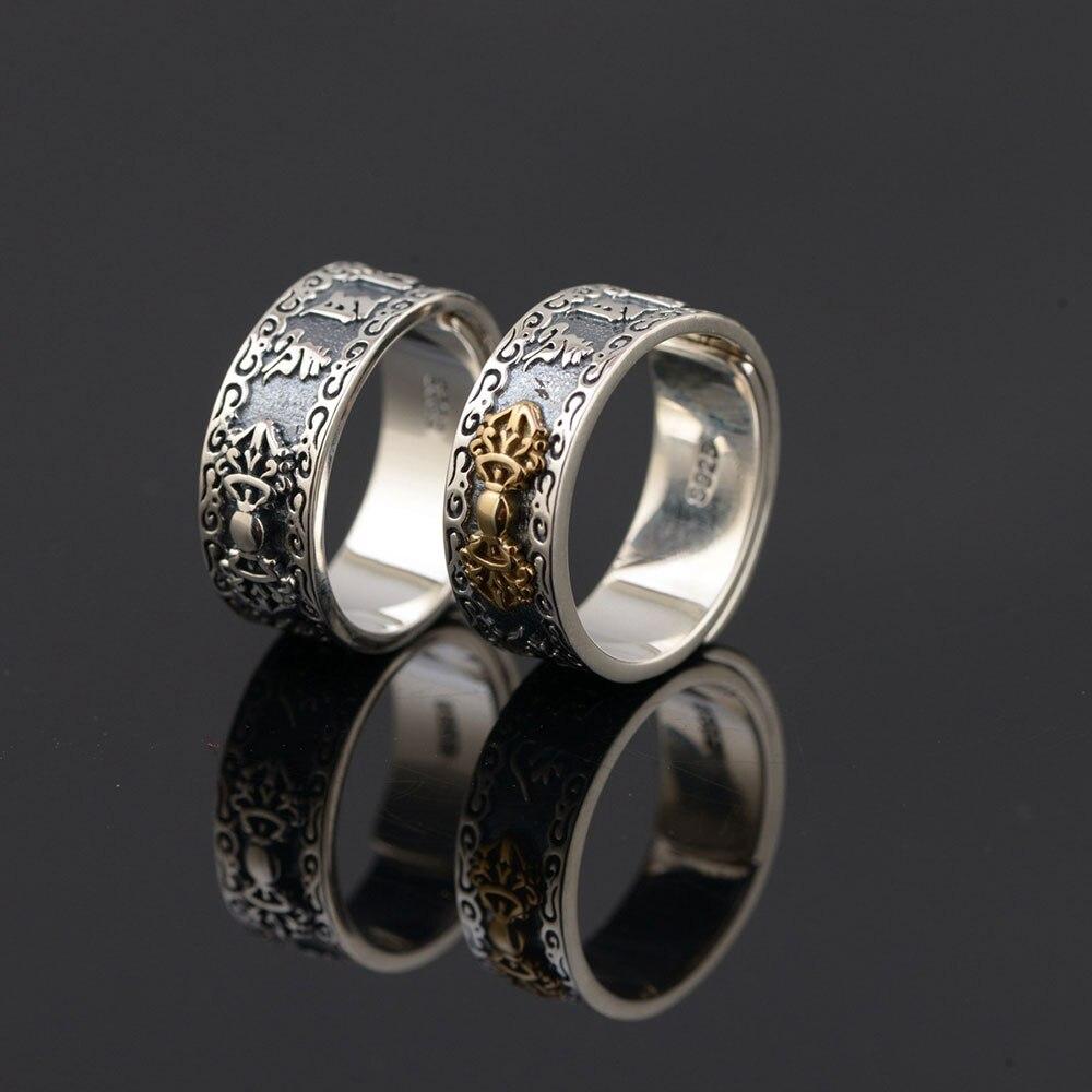 Us 21 58 20 Off 925 Zilveren Buddha Ring Corss 100 Real S925 Sterling Thaise Zilveren Ringen Voor Mannen Sieraden Verstelbare Maat In 925 Zilveren