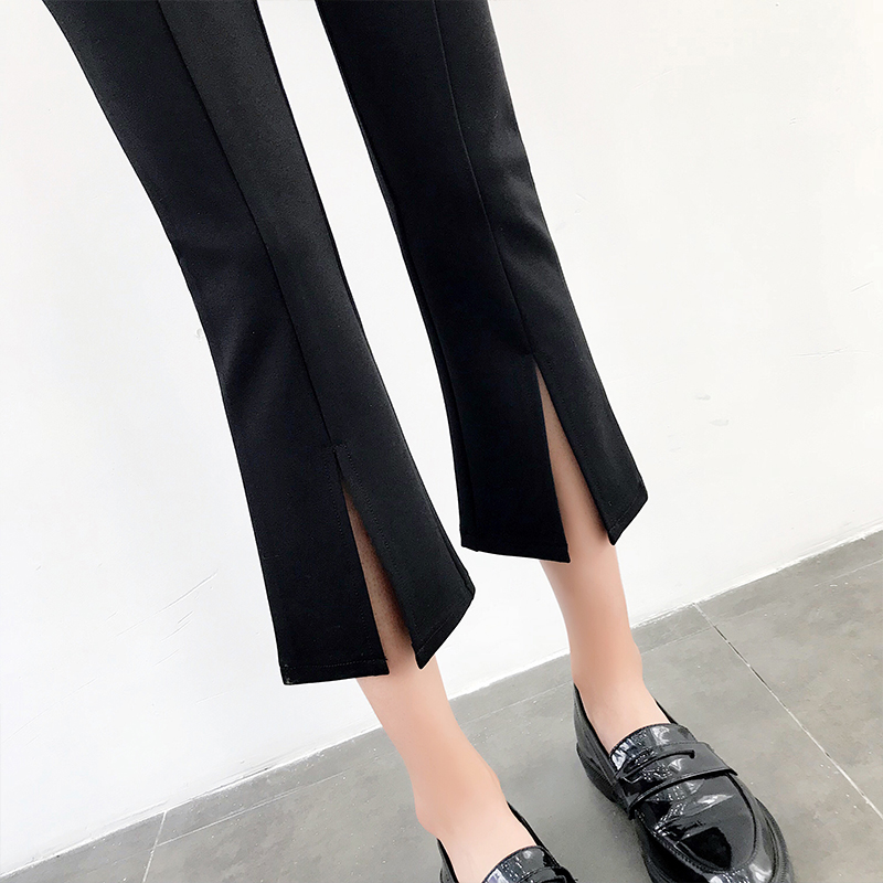High-waisted Flare Pants Women 2018 Summer New Hot Fashion Female Casual Loose Ankle-length Pants Trousers Bottoms 5