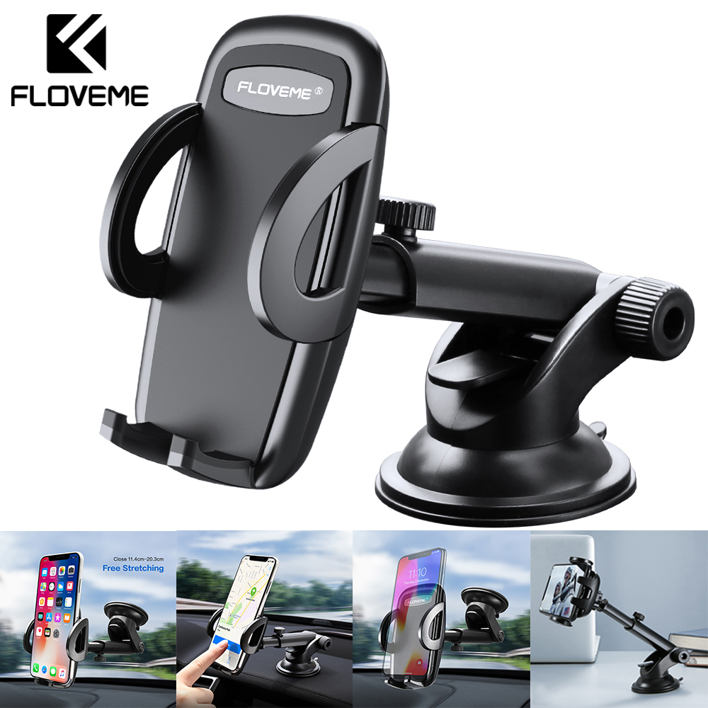 FLOVEME Car Phone Holder For iPhone Samsung Holder For Phone In Car Holder Stand Mount Support Telephone Voiture Telefon Tutucu