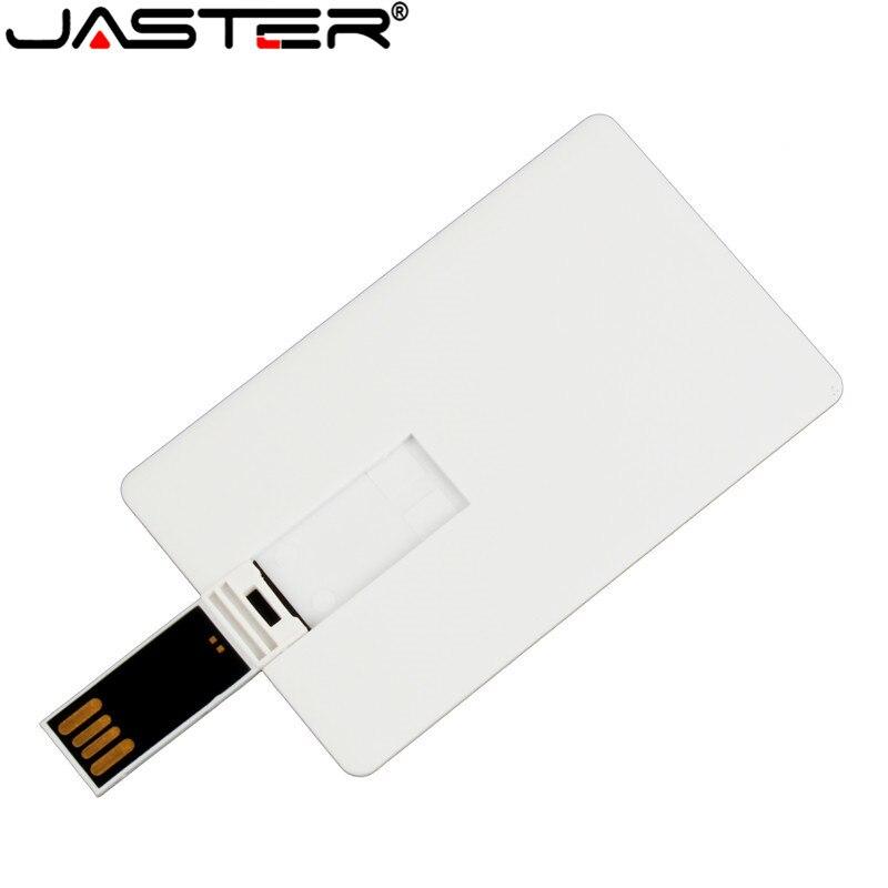 JASTER  Credit Card 64GB USB Flash Drive USB 2.0 4GB 8GB 16GB 32GB Flash Disk Pen Drive Free Custom Logo Gifts