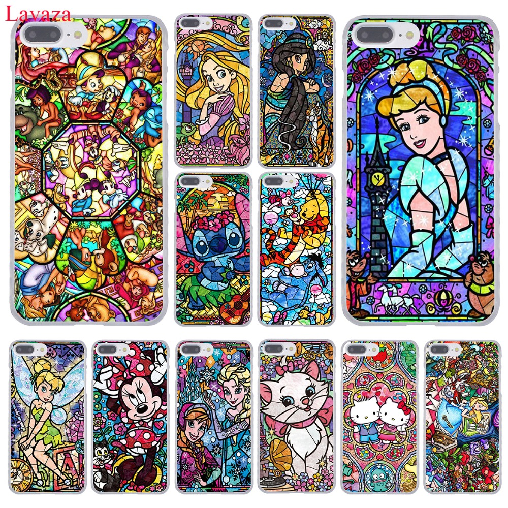 Lavaza Winnie the Pooh fairy tale stained Alice Mickey Mouse <font><b>Case</b></font> for <font><b>iPhone</b></font> 8 7 6 6S Plus 5 5S SE 5C 4 4S <font><b>10</b></font> X Tinker Bell