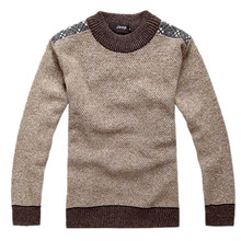Size M XXXL New Men s Casual Winter Warm Thick Velvet Cotton Wool Sweaters Pullovers Knitwear