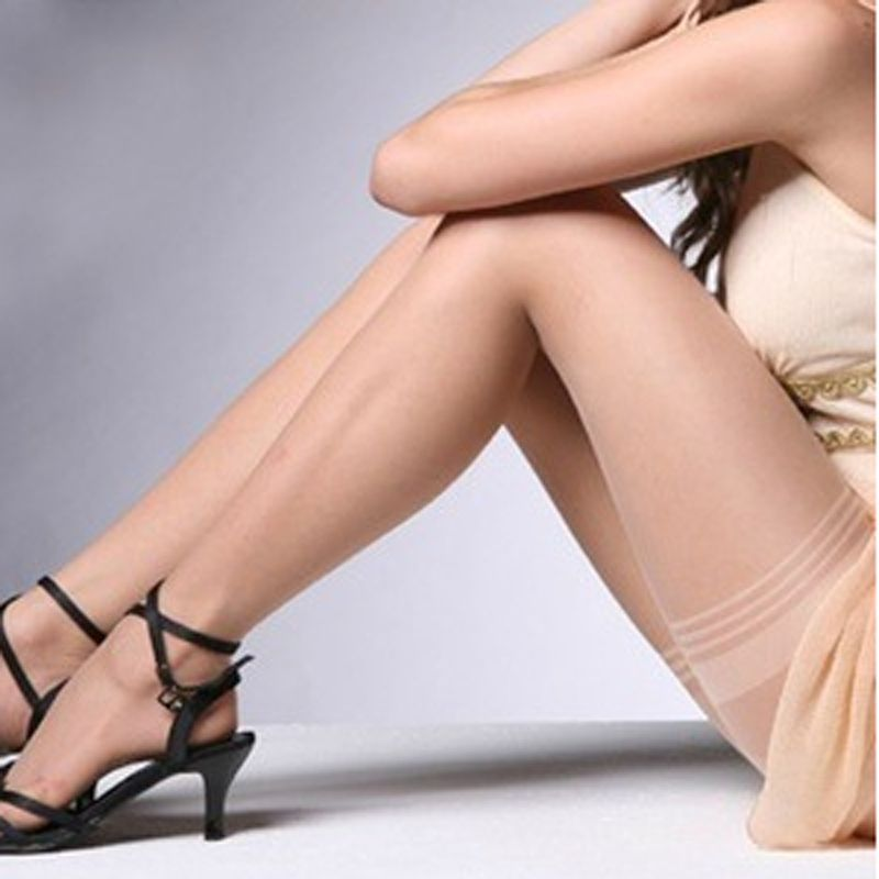 c3c9fa56b Hot Women Girls Sexy Lace Top Stay Up Thigh Highs Stockings Tights Black  Nude High Quality Pantyhose-in Stockings from Women s Clothing    Accessories on ...